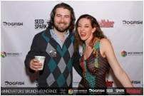 Michelle Soffen of Dogfish Accelerator with Pierce Varous of Nice Dissolve, Sundance 2013