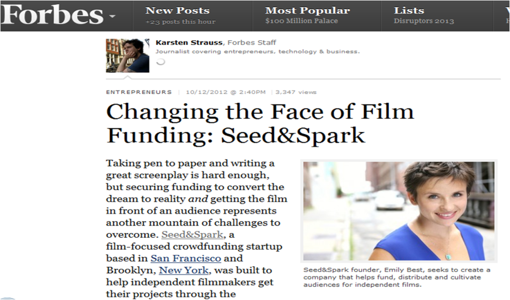 Forbes Seed&Spark 2012