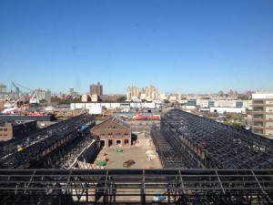 Construction site for the New Lab at the Brooklyn Navy Yard