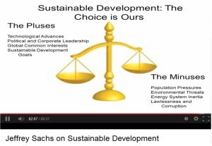 J sachs on Sustainable Development