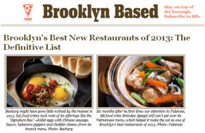 Brooklyn Based Named Falansai Among the Best New Restaurants in 2013