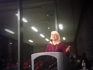 Jennifer Lawton speaking-Picture by @DowntownBklyn