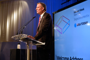 Mayor Bill de Blasio at IWNY